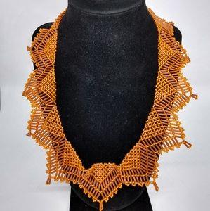 Orange Fashion Necklace